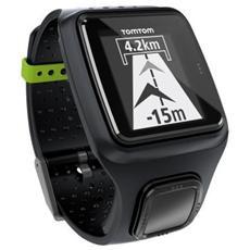 """Runner Orologio GPS impermeabile con Display 2"""" adatto per la corsa - Nero"""