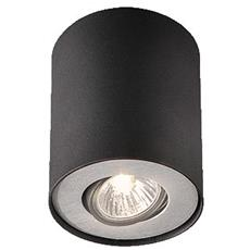 Pillar Single Spot Black 1X50w 230V
