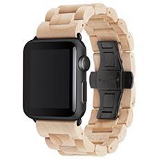 EcoStrap Apple Watch nastro 42mm, acero nero