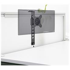 ICA-LCD 10 - Supporto monitor 13-27'' per montaggio su pannelli divisori ufficio