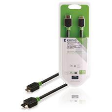 KNV34500E20, HDMI, Mini-HDMI, Maschio, Maschio, Dritto, Dritto