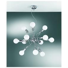Illuminazione 2597-12 - Sospensione In Metallo Cromato