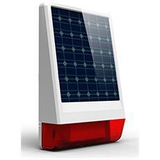 Wg-Jdw06 Sirena Esterna Wireless Per Sistema Di Allarme Con Pannello Solare, Bianco
