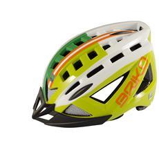Casco ciclismo e mountain bike unisex 5.0 verde erba bianco 100529 Taglia M