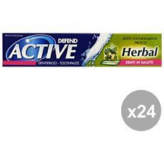 Set 24 Dentifricio Active Herbal 75 Ml. Prodotti Per Il Viso