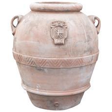 Orcio Toscano Invecchiato In Terracotta Toscana 110x110x125 Cm
