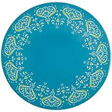 Mykonos Sottopentola Tondo, Ceramica E Sughero, Multicolore, 16x16x1 Cm