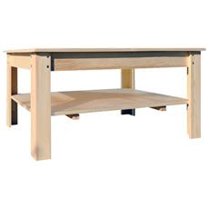 Tavolo Tavolini Da Salotto Legno Chiaro Rustico Soggiorno