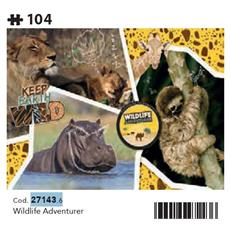 27143 - National Geographic Kids - Wildlife Adventurer - 104 Pezzi - Made In Italy - Puzzle Bambini 6 Anni +