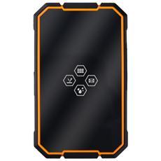"""CM 1 Senior Phone Display 0.98"""" Micro SIM Bluetooth con Tasti Grandi Colore Nero / Giallo"""