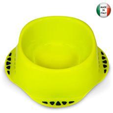 Ciotola 17xH8 cm polipropilene per alimenti cani e gatti colori assortiti