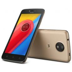 "Moto C Plus Oro 16 GB 4G / LTE Dual Sim Display 5"" HD Slot Micro SD Fotocamera 8 Mpx Android Italia"