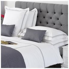 Double Row Cord Elegante E Raffinato Completo Copripiumino Matrimoniale Lavorazione Artigianale (grigio)