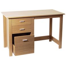 Montrose - Home Office Desk Deposito / Workstation - Oak 76a X 120l X 50p Cm