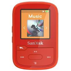 Lettore MP3 Clip Sport Plus 16GB Colore Rosso