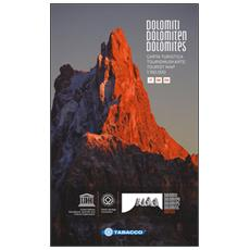 Dolomiti. Carta turistica 1:150.000. Ediz. italiana, tedesca e inglese