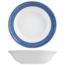 Piatto Ceramica Siena Blue Fondo Cm21 Stoviglie
