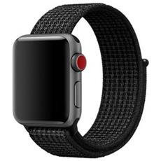 Cinturino Nike Sport Loop in Nylon per Apple Watch da 38 mm Nero / Platino
