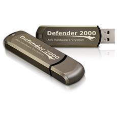 Defender 2000 FIPS 140-2 Certified, 128Gb, USB 2.0, Type-A, 0 - 70 °C, -25 - 85 °C, Senza coperchio, Marrone