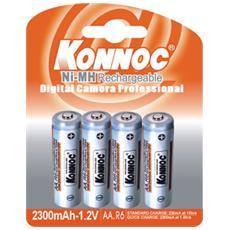 IBT-K2300-B4 - Blister 4 Batterie Ricaricabili Stilo AA 2300mAh