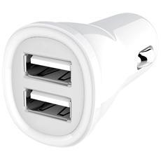 IUSB2-CAR2-24A2P - Caricatore da Auto 2p USB 5V 2.4A Bianco
