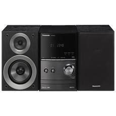 Sistema Micro HI-FI PM600 Lettore CD Supporto MP3 Potenza Totale 40 W Bluetooth USB Nero