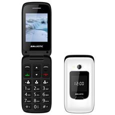 """Tlf Sileno 50 Flip Nero Senior Phone con Doppio Display 2.4"""" Fotocamera Radio + Tasto SOS - Italia"""
