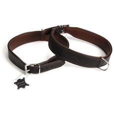 Collare Per Cani Swirl In Pelle Marrone 45 Mm 68-76 Cm 745846