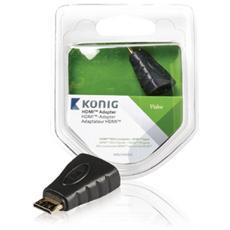 KNV34906E, Mini HDMI, HDMI, Maschio / femmina, Antracite, Plastica, Blister