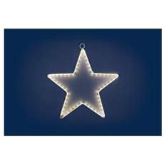 Stella di Natale Luminosa a Led Bianco 60 Luci Diametro 26 cm