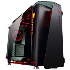 Case PC Middle Tower ATX / Micro-ATX / Mini-ITX 2 Porte USB 3.0 Colore Nero / Rosso