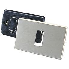 Placca Alluminio Magic, Rettangolare, 1 Foro Oro
