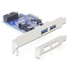 89315, PCIe, USB 3.0, Blu, Bianco, 5 Gbit / s, VLI, Cablato