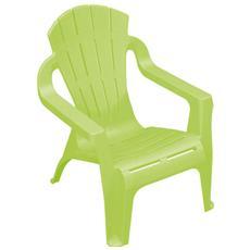 Sedia impilabile per bambini Colore verde - Modello Miniselva