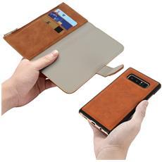 Custodia Galaxy Note 8 Portafoglio Portacarte Cover Amovibile Forcell - Camel