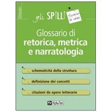 Glossario di retorica, metrica e narratologia