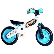 Bici B-BIP+Caschetto Grigio-Celeste 010B