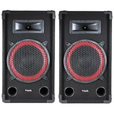 """Una Coppia Di Diffusori Passivi Sono Dj Pa 10 """""""" / 25 Centimetri A 2 Vie Bass Reflex 2x250w Ibiza Star10-250"""