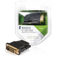 KNV34912E, DVI-D, HDMI, Maschio / femmina, Antracite, Plastica, Blister