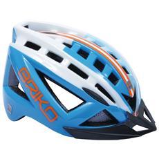 Casco ciclismo e mountain bike unisex 5.0 celeste bianco 100529 Taglia L