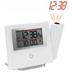 Orologio Sveglia Radiocontrollata a Proiezione Colore Bianco