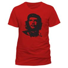 Che Guevara - Red Face (T-Shirt Unisex Tg. M)