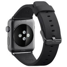 Cinturino classico in pelle da 42 mm per Apple Watch - Nero