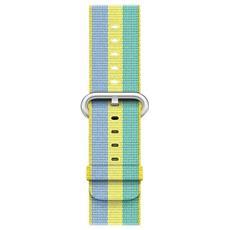 Cinturino in nylon intrecciato giallo limone (42 mm)