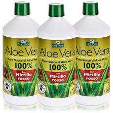 Optima Puro Succo Di Aloe Vera Con Mirtillo Rosso, 3 X 1 L