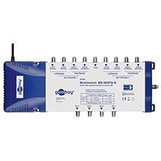 SAT Multiswitch 9/04 MS-904PQ, 8x SAT, 1x terr, 230V, 50 Hz, 365 x 120 x 70 mm, Blu, Bianco
