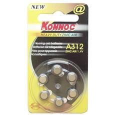 IBT-KAC-V312 - Batterie a bottone per protesi acustiche (PR312, DA312, EP312E) 6pz