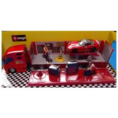 DieCast 1:43 Race e Play Ferrari Camion Bisarca c / Officina 10 31202
