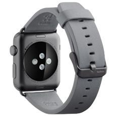 Cinturino classico in pelle da 38 mm per Apple Watch - Grigio