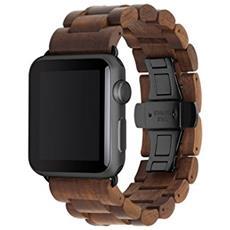 EcoStrap Apple Watch nastro 42mm, nero noce